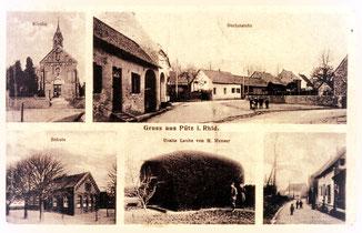 Ansichtskarte Pütz von 1903