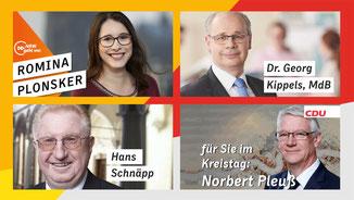 Bundestag, Landtag und Kreispolitik