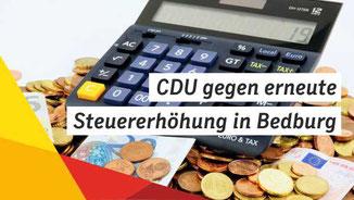 CDU gegen erneute Steuererhöhung
