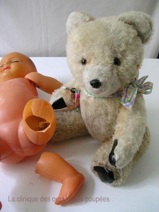 réparer ours en peluche restaurer ours en peluche