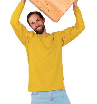 100% biokatoen shirt met lange mouwen (€69,95)