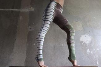 Bunte Batik Leggings, Hippie Gr. XS