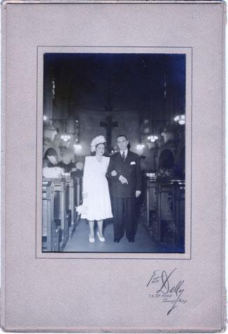 El casamiento de mi mamá con mi papá Hector Mario Cassano.