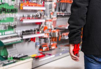 Ladendiebstahl - der DSD Sicherheitsdienst hilft.