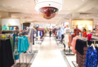Kaufhausüberwachung mit Kameras vom DSD Sicherheitsdienst.