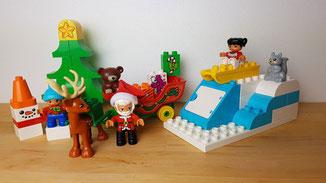 Adventskalender tipp zum Selberfüllen, Lego Duplo Winterspaß mit dem Weihnachtsmann