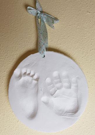 Hand- und Fußabdruck Baby