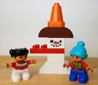 Lego Duplo: Die Kinder bauen einen Schneemann, Adventskalender Duplo