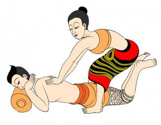Symbolbild Thai Massage Steyr Rücken