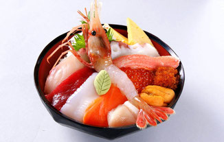 Kaisendon (Marisco y sashimi con arroz)