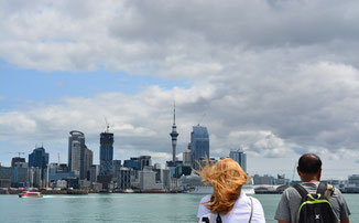 - Auckland depuis la mer - Nouvelle Zélande -