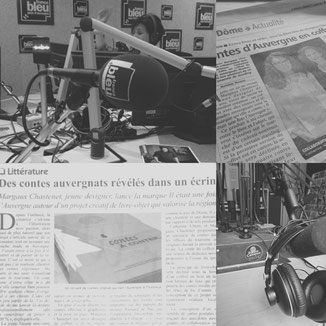 article de presse sur le coffret des contes