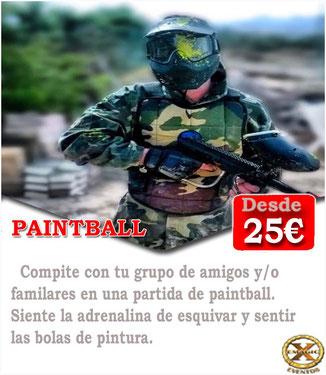jugar al paintball en Cádiz con amigos