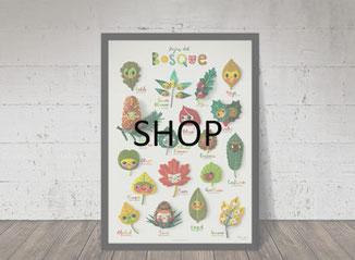 wenyuri shop, tienda Wenyuri, handmade art, custom gift, hecho a mano, regalo personalizado, print shop, tienda de pósters, láminas, regalo especial, artista textil, fieltro, pared, regalo para habitación, tienda naïf