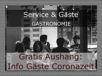Aushang Gäste Corona Restaurant