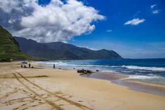 Westküste Oahu, Strand, Keawaula Beach, Oahu, Hawaii, USA, Strand, Die Traumreiser