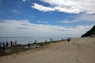 Der Pandawa Beach bei Ebbe
