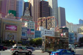 New York, Las Vegas, Rollercoaster, Achterbahn, Casino, Nevada, USA, Die Traumreiser