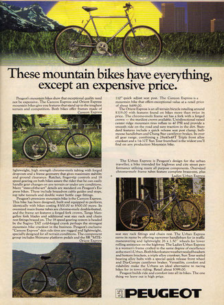 Peugeot - oldschoolracing ch - vintage Mountainbikes race ready!
