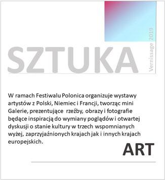 """Informacje o wystawach sztuki w ramach Rock & ChansonFestival """"Köln-Breslau-Paris"""" w Kolonii, zorganizowanych przez Polonica e.V."""