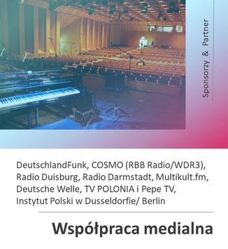 """Sponsorzy i zwolennicy 28 Rock & ChansonFestival """"Köln-Breslau-Paris"""" 2021 w Kolonii Porz, organizowane przez Polonica e.V."""