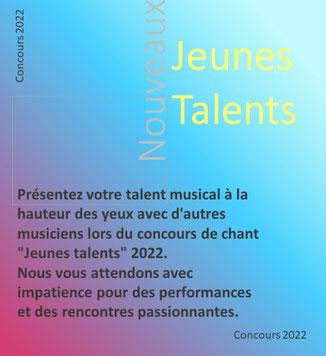 """Concours de chant """"Jeunes talents"""" 2020"""