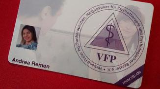 Mitglied beim Verband freier Psychotherapeuten
