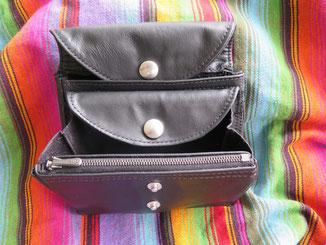 Portemonnaie mit vielen Fächer aus brauenem Pferdeleder