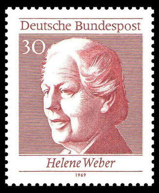 Helebe Weber - Briefmarke