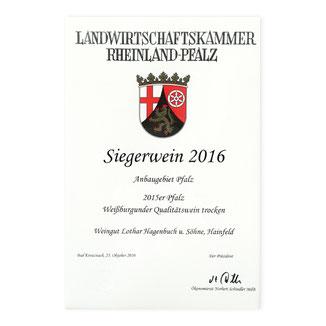 Hagenbuch Siegerwein 2016