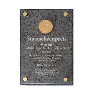 Staatsehrenpreis Weingut Hagenbuch 2017