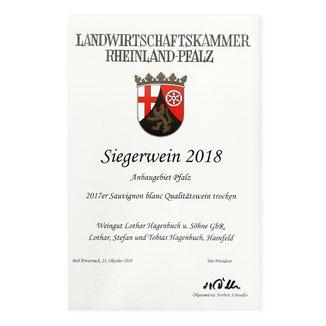 Hagenbuch Siegerwein 2018
