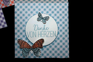 Spruch Danke von Herzen aus Schmetterlingsglueck