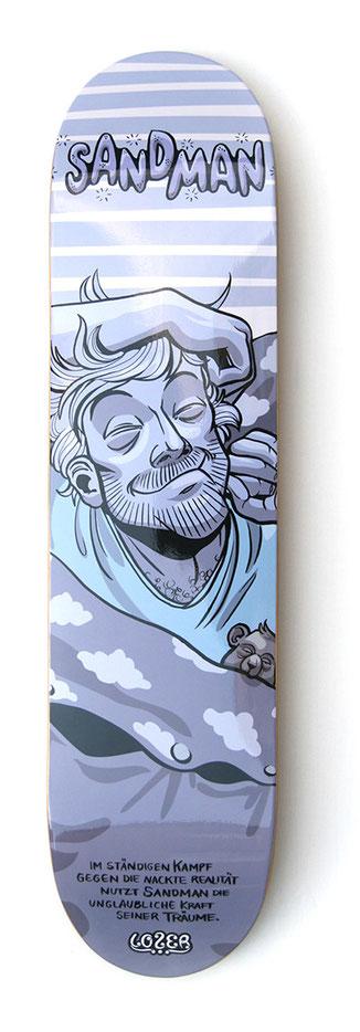 skateboarddesign - sandman räkelt sich