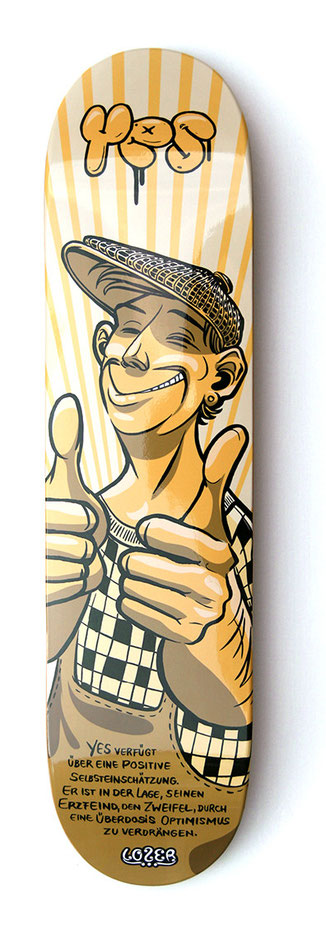 skateboarddesign - yes zeigt daumen hoch