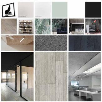 Moodboard für ein Interior Design Projekt vom Polydual