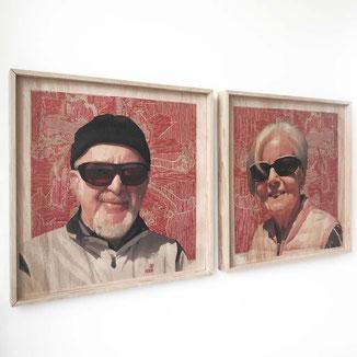 50cmX50cm Portrait Bilder auf Bestellung.