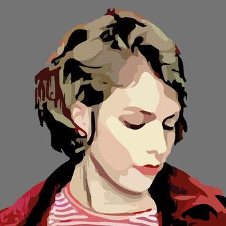 vektorisiertes Frauen Portrait zeigt Sinnlichkeit und Schönheit
