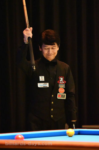 Tatsuo Arai won 2019 All Japan 3-Cushion in Tokyo. 6th Times !