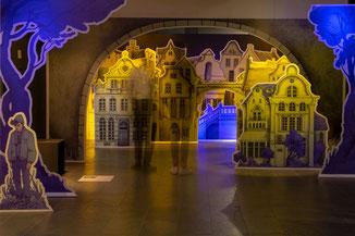 Installation Papiertheater Lübeck Ausstellung