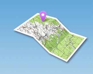 plan carte géolocalisation