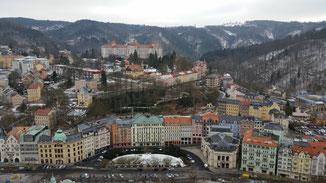 Blick auf die Kur- und Hotelmetropole