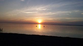 Sonnenuntergang auf Rügen - ich geh'  jetzt ins Bett...