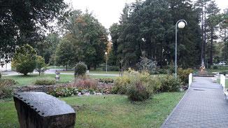 Der kleine Park vor dem Hotel...