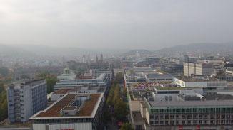Blick Richtung Königsstraße... nebulös... oder gibt es bei uns auch Smog?
