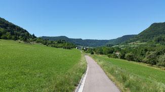 Der neue Radweg von Geislingen nach Bad Überkingen