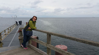 Auf der Seebrücke in Göhren... 350 m lang...