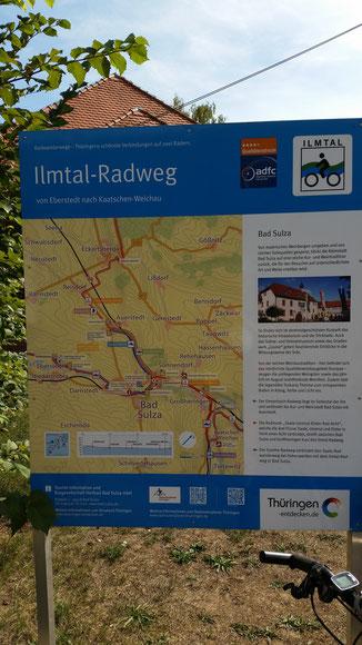 Info-Tafel am Stellplatz...
