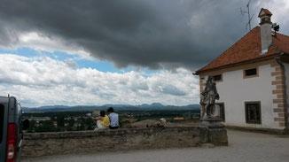 Die Burg hoch über Ptuj