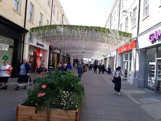 Bath - der Eingang in die Fußgängerzone...
